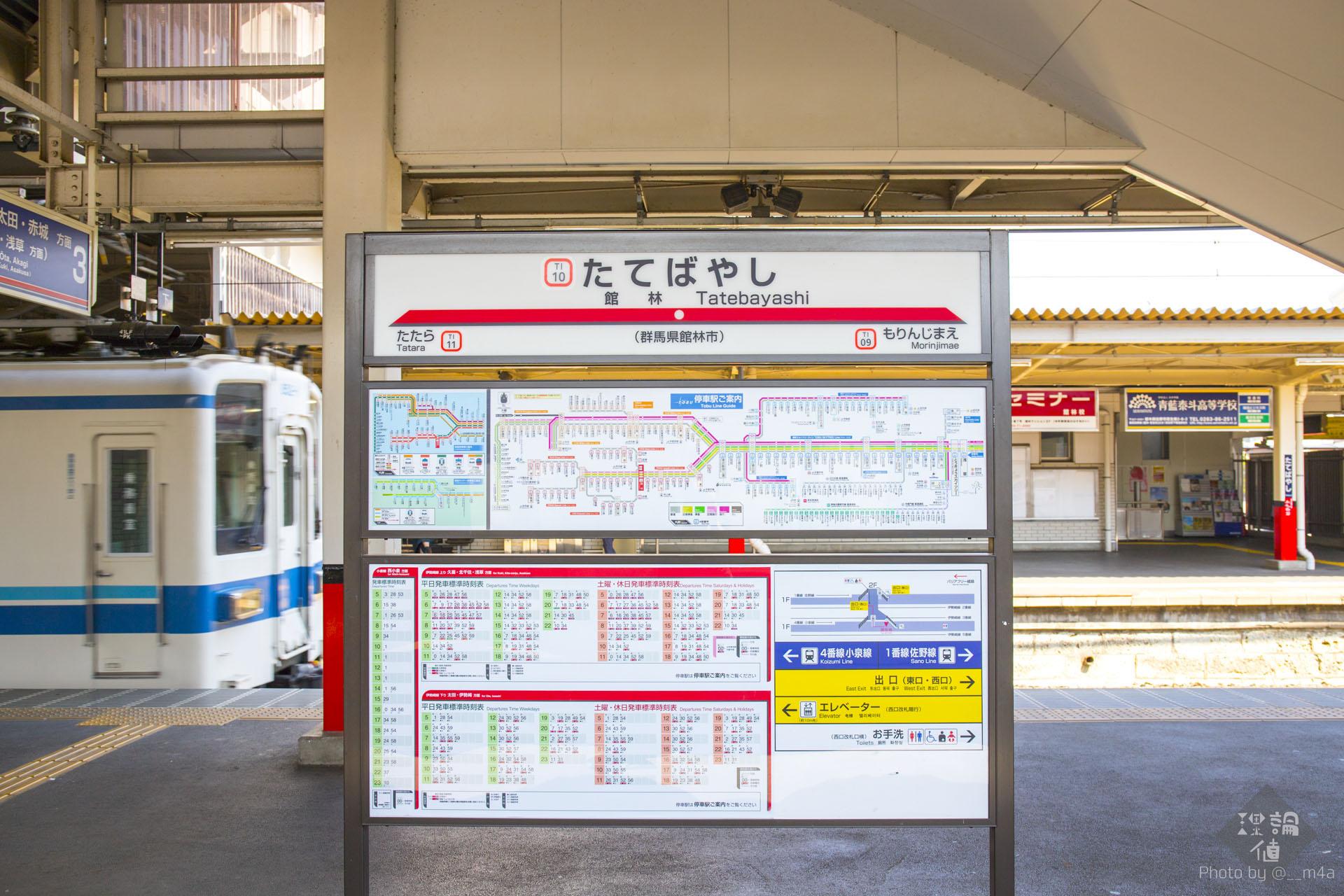 館林駅の看板